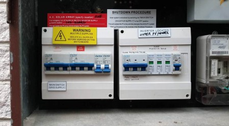 Replacement of major components in a switchboard