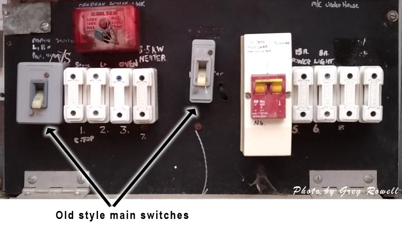 Main switch on an old switchboard