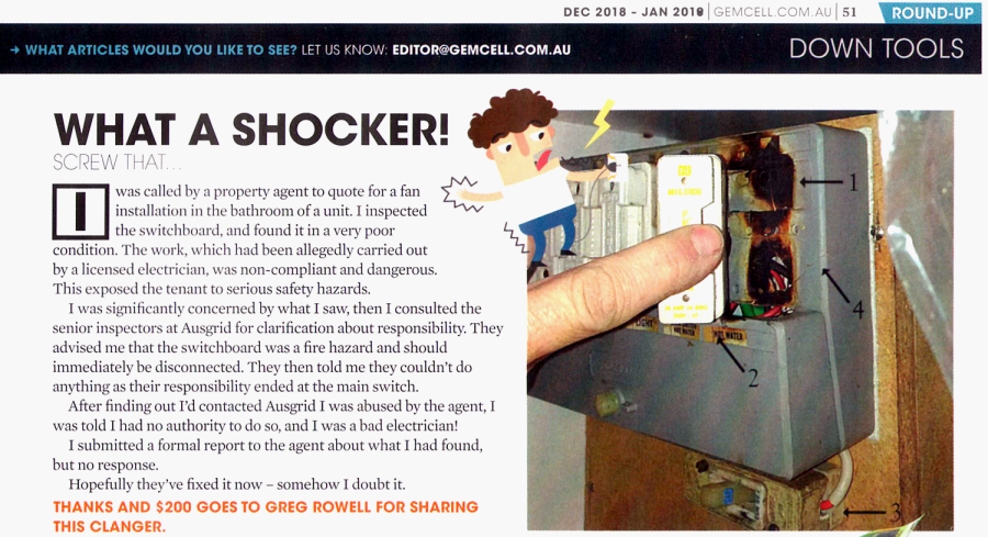 What a shocker - an article in GemCell magazine